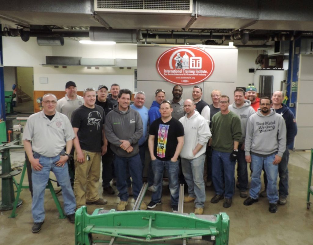 Architectural sheet metal 'strike force training' allows for focused learning